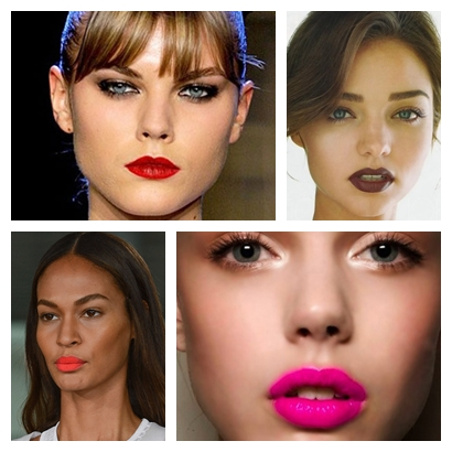 makeup trends bright lips