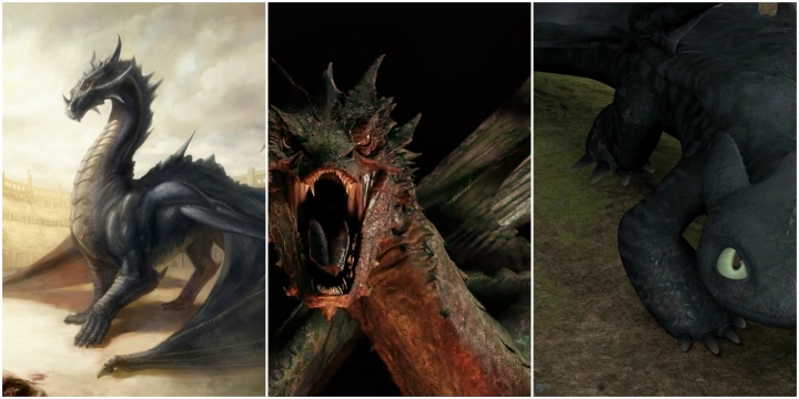 drogon vs smaug vs toothless