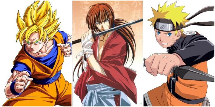 goku vs kenshin vs naruto